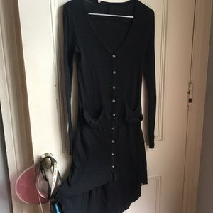 Free People beach button down cardigan dress small